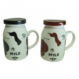 Renkli Kapaklı Milk Kupa