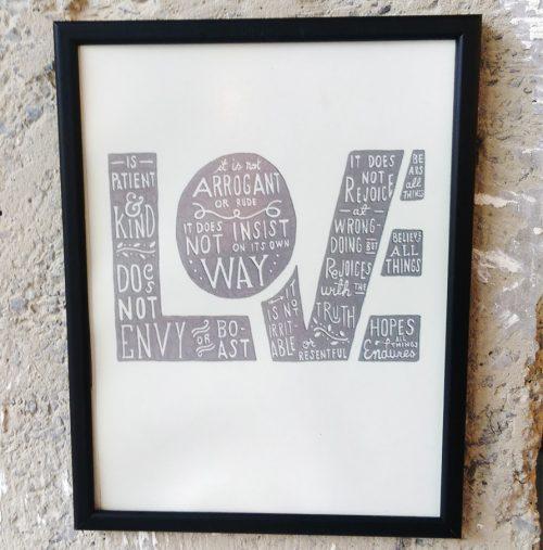 25X35 Art Print Love